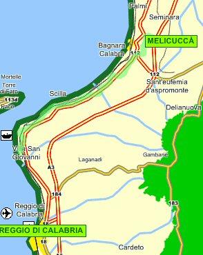 Reggio Calabria Cartina Geografica.Come Arrivare Comune Di Melicucca